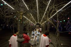 Here Comes Nick: Christmas Celebrations Around the World - NBC News.com  Children dressed up as angels take part in a mass on the eve of Christmas at the South Cathedral Catholic church in Beijing.