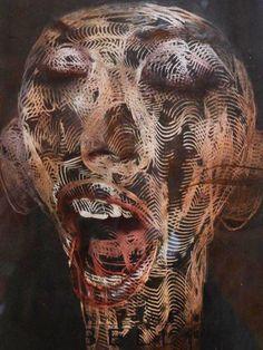 This is Wallace Juma's art gallery. Rosanna Jones, Jose Romussi, Textile Artists, Art Gallery, Skull, Portrait, Artwork, Ph, Image