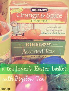 A Tea Lover's Easter Basket with Bigelow Tea #shop #cbias #AmericasTea