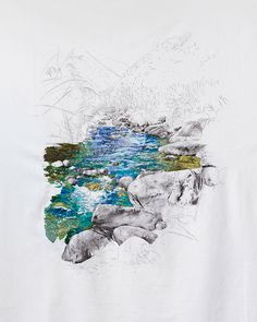 Ana Teresa Barboza: Cieneguilla. Embroidery And Graphite On Cloth