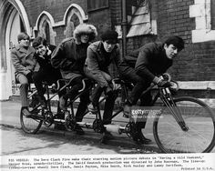 Rock group 'The Dave Clark 5' act in the movie 'Having A Wild Weekend' which was also known as 'Catch Us If You Can' released in April 1965 in the United Kingdom. (L-R) Lenny Davidson, Rick Huxley, Mike Smith, Denis 'Denny' Payton, Dave Clark.