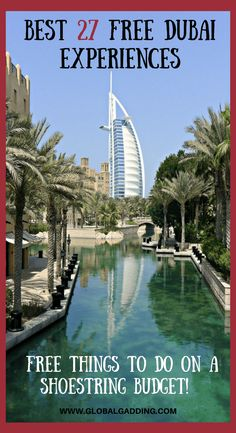 33 Incredible FREE Things To Do In Dubai To Save Money - Global Gadding - Best FREE Dubai Experiences For A Shoestring Budget are easy to find and fun. Free things to do in Dubai help stretch your budget. Check the list out now! Honeymoon In Dubai, Dubai Vacation, Dubai Trip, Dubai Beach, Dubai City, Honeymoon Ideas, Dubai Uae, Vacation Ideas, Dubai Things To Do