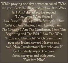 This is SO BEAUTIFUL, sounds just like my Heavenly Father Papa Love. I LOVE BEING YOURS. ETERNALLY GRATEFUL.
