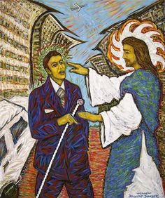 Title: Healing the blind man Date: 2004 Technique: Acrylic on canvas Size of work: 200 x 140 cm  Price: 7.700 USD
