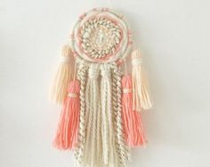 Large macrame wall hanging / fiber textile art / by HollyandTeddy