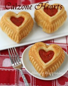 Hungry Happenings: Valentine's Day Dinner - Calzone Hearts