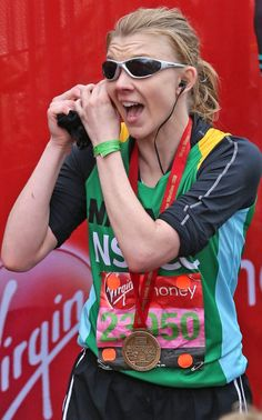 """""""I did it!""""Game of Thrones star Natalie Dormer puts in a quick phone call after completing the course"""