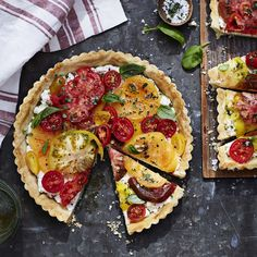 Tomato Tart with Ricotta and Basil
