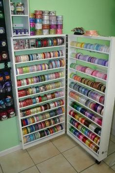 Finished Craft Room :: IMG_6267 Image By Jackruss00   Photobucket  Unbelievable Ribbon Storage