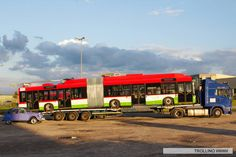 Nowy trolejbus w drodze do Lublina. Sisters, Vehicles, Car, Vehicle, Tools