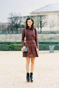 Fashion fairies, if you're out there, this oxblood leather dress/coat pretty please