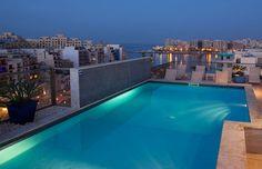 Rooftop Pool, Hotel Juliani in Malta overlooking Spinola Bay