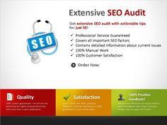 perform EXTENSIVE seo audit of your entire website