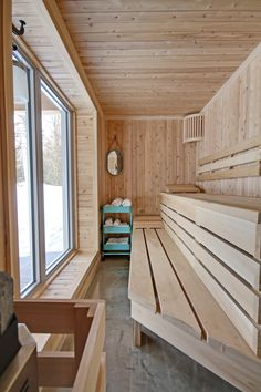 38 easy and cheap diy sauna design you can try at home by shannon w. Feist posted on july 20 2018 june 11 2019 he prospect of building a sauna in the home may initially sound daunting but in fact . Diy Sauna, Sauna Infrarouge, Sauna Hammam, Sauna House, Sauna Ideas, Sauna Steam Room, Sauna Room, Design Sauna, Diy Wohnmöbel