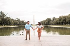 Sandy & Nara | Lincoln Memorial Engagement Session | Washington DC Wedding Photographer - Brooke Richelle Photography