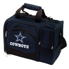 Dallas Cowboys Malibu Picnic Cooler Tote - Navy Blue