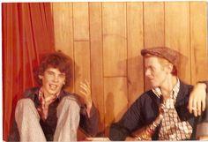 Eugene Chaplin with David Bowie, Switzerland 1976.