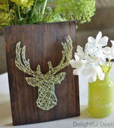 Saiba já como fazer um artesanato com pregos, madeira e linha