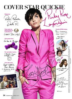 Ruby Rose - Cosmopolitan USA, March 2017