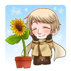 Russia's so cute with his sunflower ^_^