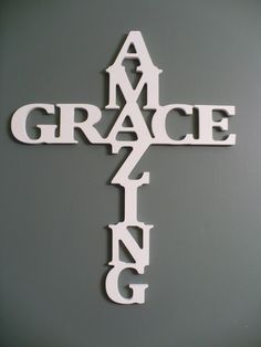 Wooden+Amazing+Grace+Cross+wall+decor+Amazing+by+LettersbyLeslie,+$60.00
