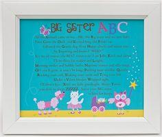 Sweet ABC print for big sister!