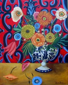 Wow! Flowers For Gracie-New painting -- Catherine Nolin