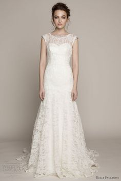 kelly faetanini bridal spring 2014 isabelle cap sleeve wedding dress