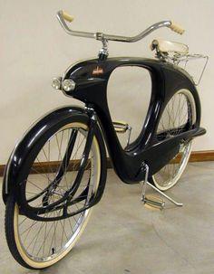 Byclette 'Spacelander' - Vélo Aérodynamique aux Lignes Futuristes Moulé en Fibre de Verre - Bowden