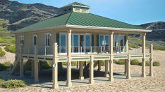 Beach House Plans | Clearvies Model 1600p | BeachCat Homes | Beach House Plans by Beach Cat Homes