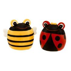 """Grasslands Road Out On A Whim Ladybug & Bee Salt & Pepper Shakers by Grasslands Road. $8.60. Handwash Only. Ceramic. 2 1/8"""" x 2 3/8"""" x 2 3/8"""". What a pair! Grasslands Road collectible Ladybug & Bee Salt and Pepper Shakers are sure to spice up any table. Two adorable Out On A Whim characters!"""