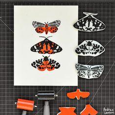 Handcarved Moths by Andrea Lauren