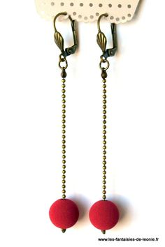"""Boucles d'oreilles graphiques rose: """"Bubble"""""""