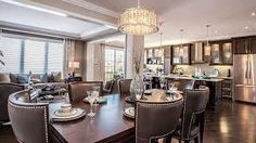 Mattamy Homes Inspiration Gallery: Dining Area Custom Home Designs, Custom Homes, Design Your Home, House Design, Dining Area, Dining Table, Foyer Chandelier, Two Story Foyer, Decoration