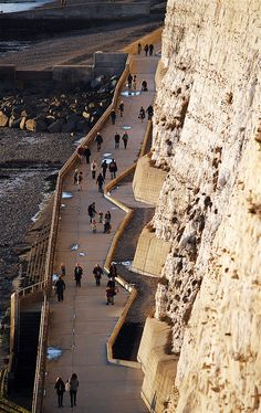 Undercliff Walk - Between Ovingdean Gap and Rottingdean - East Sussex, England