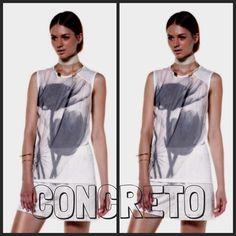 Fiori sfumati per la T-shirt doppiata di tulle by Concreto
