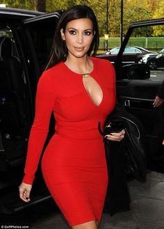 Kim Kardashian Red Dress