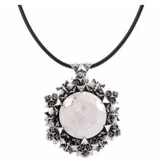 John Brevard Thoscene Moonstone Silver Pendant (3.855 DKK) ❤ liked on Polyvore featuring jewelry, pendants, necklaces, silver, silver chain jewelry, charm pendants, egyptian jewelry, moonstone pendant and cone jewelry