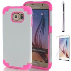 Samsung Galaxy s6 Protective Case - White/Pink