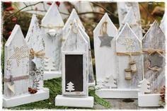 Dekoration für Weihnachten aus Holz