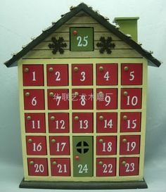 Wooden Advent Box for Christmas