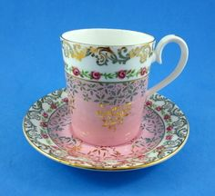 Pretty Pink Roses Belvedere Series Royal Albert Demi Tea Cup and Saucer Set ca.picclick.com
