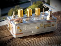 My new steampunk style guitar pedal