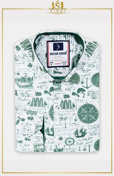 Doctor Junior Boys Slim fit Sailor Printed Green Smart Shirt - My Website 2020 Suits For Sale, Boys Suits, Kind Mode, Elegant, Paisley Print, Slim Fit, Sailor, Shop Now, Super Cute