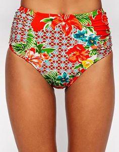 Enlarge Bikini Lab Hot & Gold High Waisted Bikini Bottoms