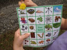 Nature Walk Bingo--great to make walks fun for kids--link to the bingo cards is in the post