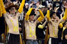 Western Michigan Broncos cheering on at a game!