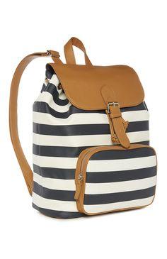 Primark - Navy Stripe Backpack