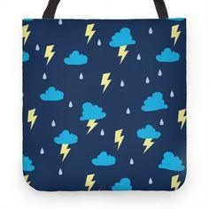 266472f73a9f Lightning Pattern  tote  bag  pattern  weather  rain  cute  design