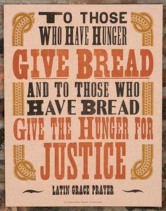Give Bread letterpress poster by starshapedpress on Etsy, $40.00